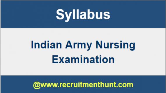 Indian Army Nursing Syllabus