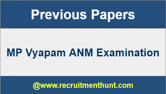 MP Vyapam ANM Previous Papers