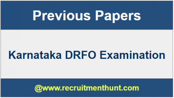 Karnataka DRFO Question Papers