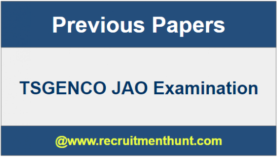 TSGENCO JAO Old Question Papers