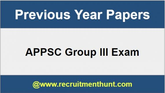 APPSC Group III Previous Papers