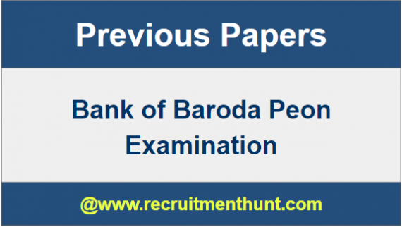 B0B Peon Exam Question Papers