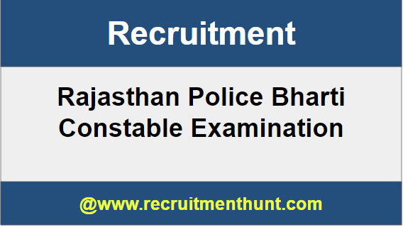 Rajasthan Police Bharti Constable Recruitment