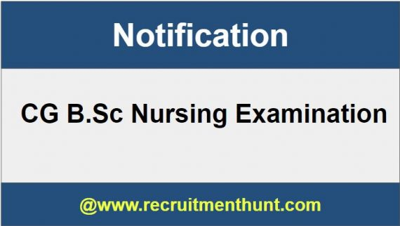 CG B Sc Nursing 2019 - Exam Date, Application Form, Syllabus