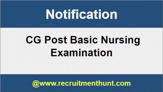 CG Post Basic Nursing 2019