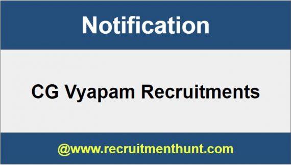 CG Vyapam Recruitment Vacancy