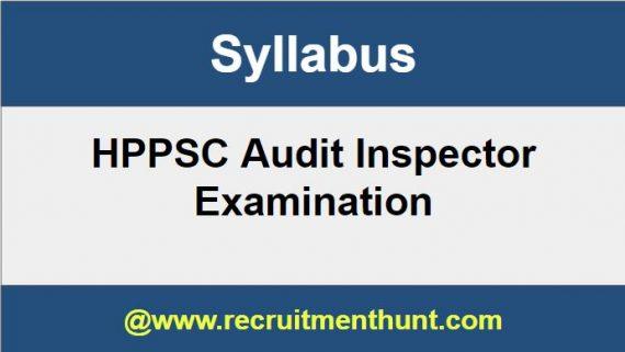 HPPSC Audit Inspector Syllabus