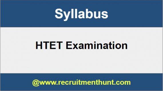 HTET Syllabus