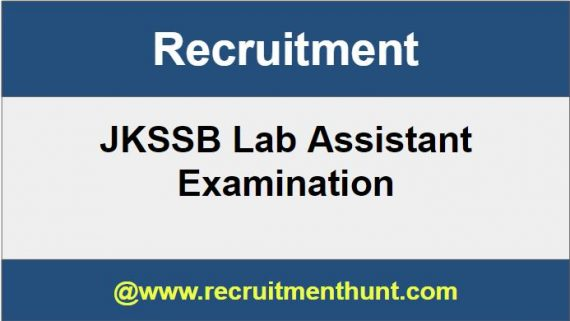 JKSSB Lab Assistant Recruitment