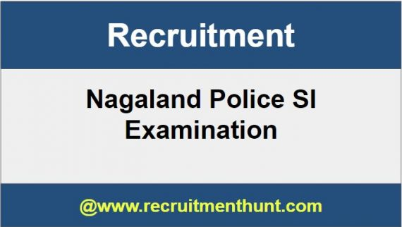 Nagaland Police SI Recruitment