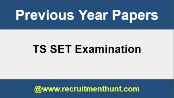 TS SET Previous Papers