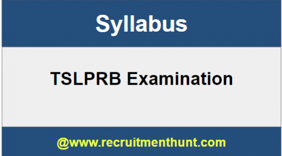 TSLPRB Police Constable Syllabus