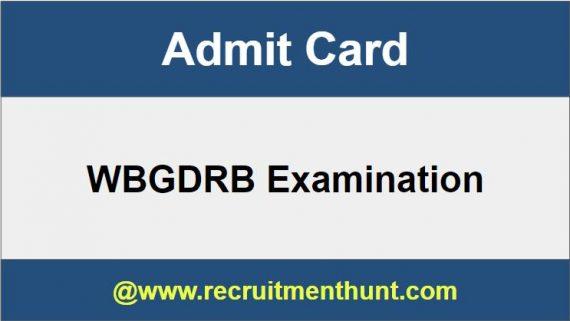 WBGDRB Admit Card