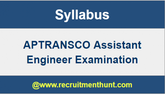 APTRANSCO Assistant Engineer Syllabus