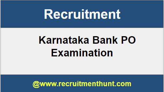 Karnataka Bank PO Recruitment