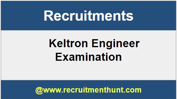 Keltron Engineer Recruitment