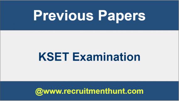 kset question papers