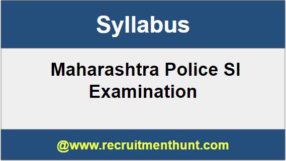 Maharashtra Police SI syllabus