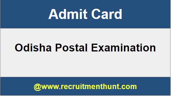 Odisha Postal Circle Admit Card