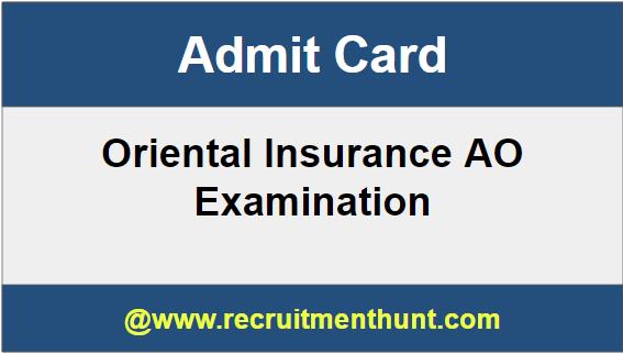 Oriental Insurance AO Admit Card