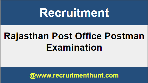 Rajasthan Post Office Postman Recruitment