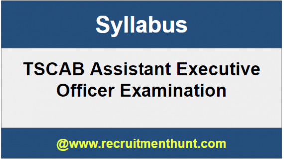 TSCAB Assistant Executive Officer Syllabus