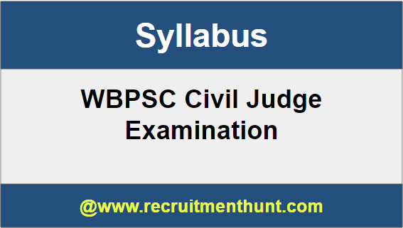 WBPSC Civil Judge Syllabus