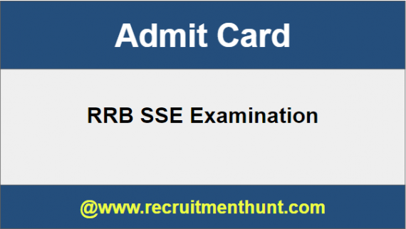 RRB SSE Admit Card