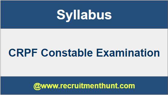 CRPF Constable Examination 2019