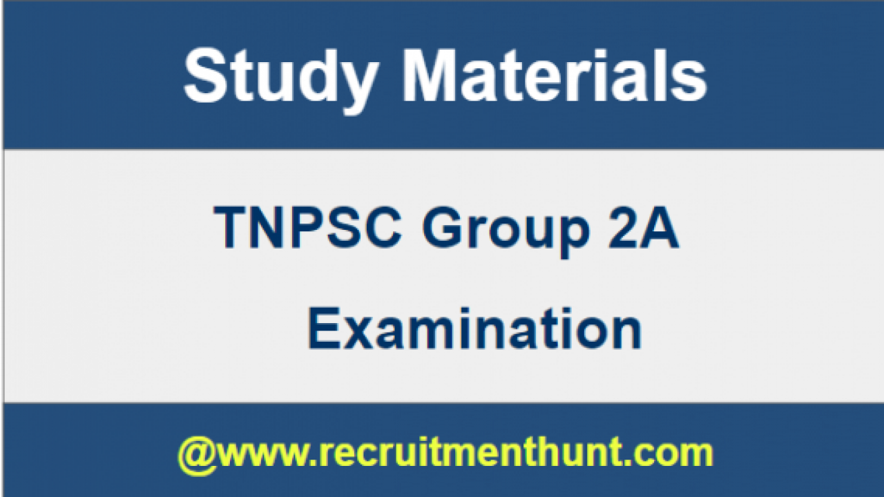 Free Download] TNPSC Group 2A Study Materials 2018 (English