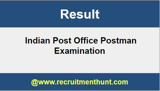 Indian Post Office Postman Result