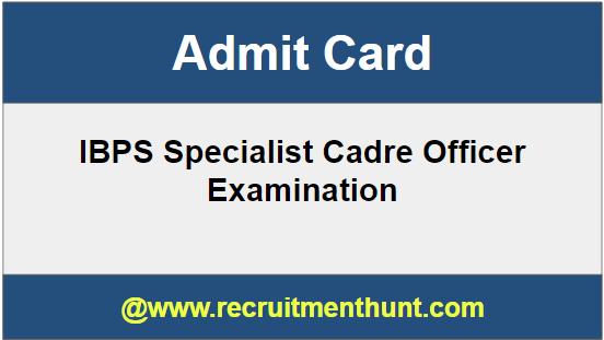 SBI Specialist Cadre Officer Admit Card