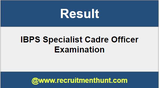 SBI Specialist Cadre Officer Result