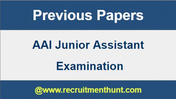 AAI Junior Assistant Previous Paper