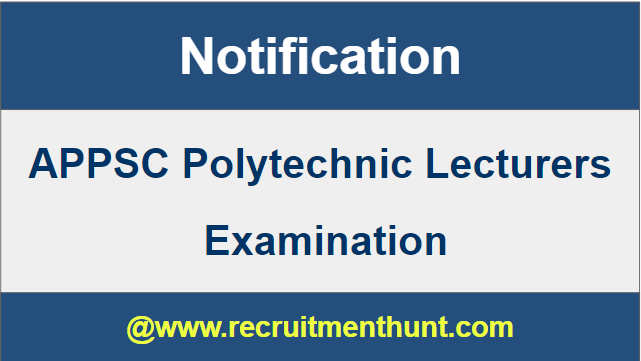 APPSC Polytechnic Lecturer Notification