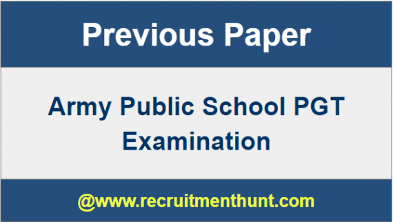 Army Public School Question Papers 2017