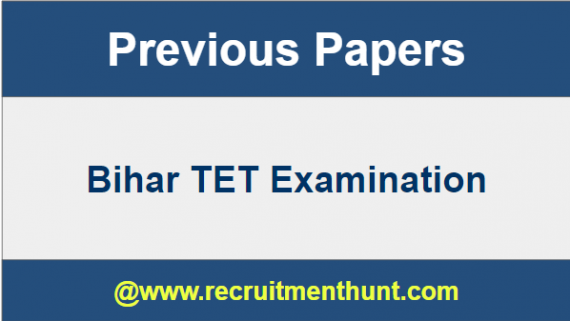Bihar TET Previous Papers