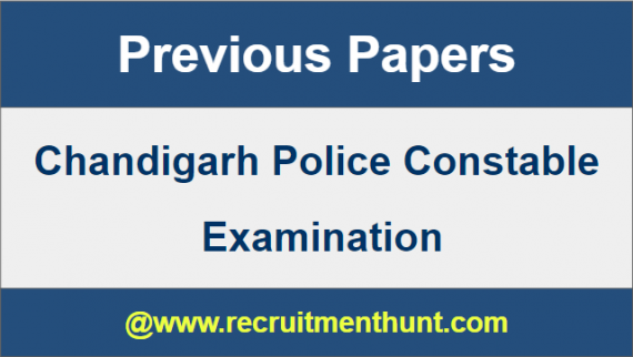 Chandigarh Police Constable Previous Papers