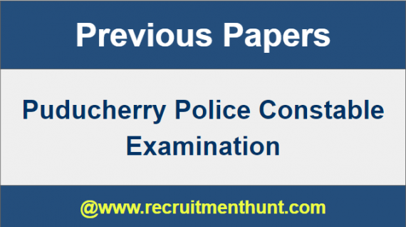 Puducherry Police Constable Previous Papers