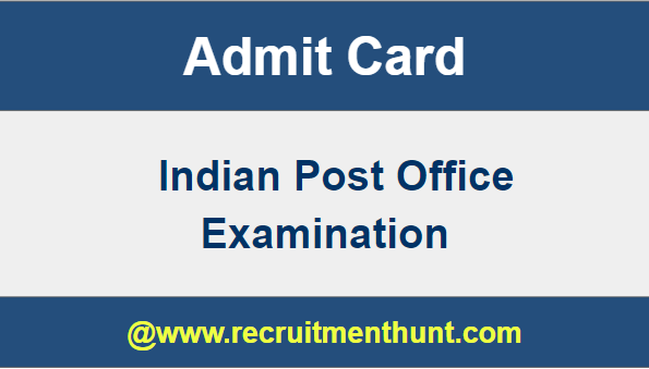 download post office admit card