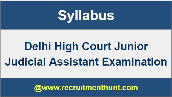 Delhi High Court Junior Judicial Assistant