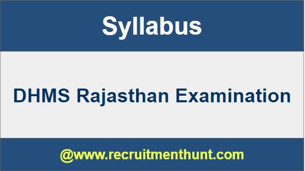 DHMS Rajasthan Syllabus 2019