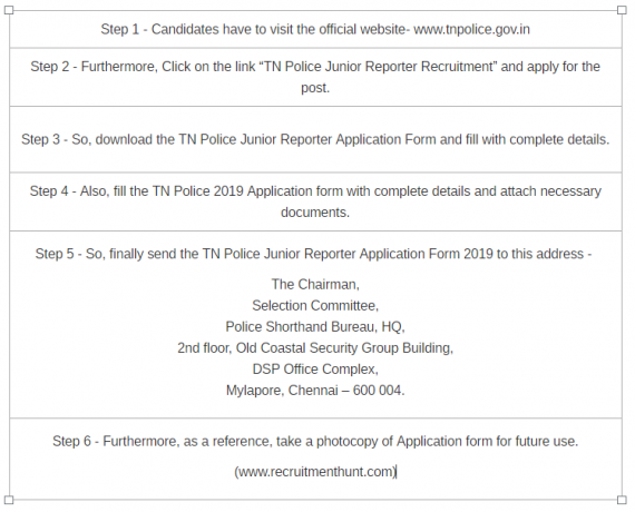 TN Police Recruitment 2019 | Apply Online for 37 Junior