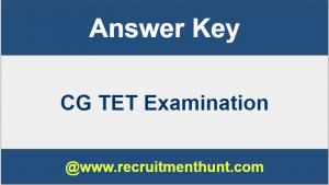 cg tet answer key 2019