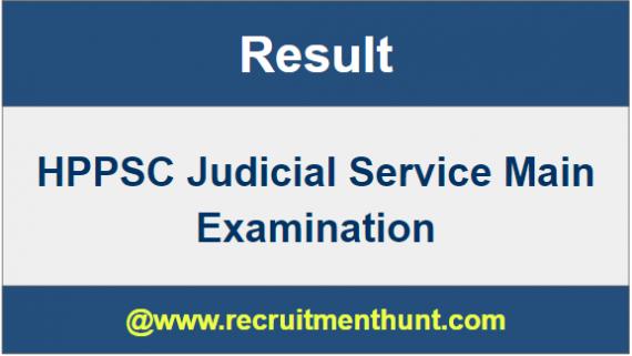 HPPSC Judicial Service Exam Result