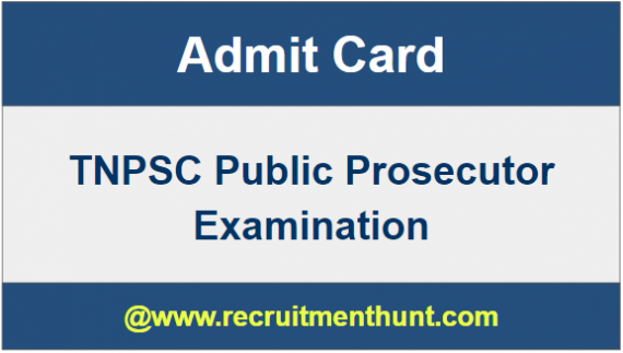 TNPSC Public Prosecutor Exam Hall Ticket