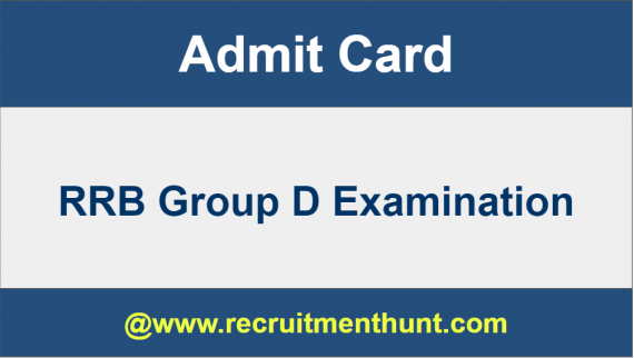 railway group d admit card download